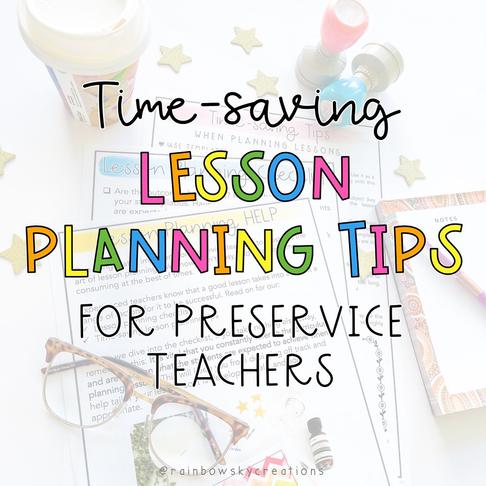 Time-saving lesson planning tips for teachers title