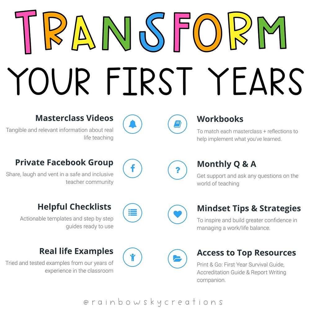 Transform your First Years infographic