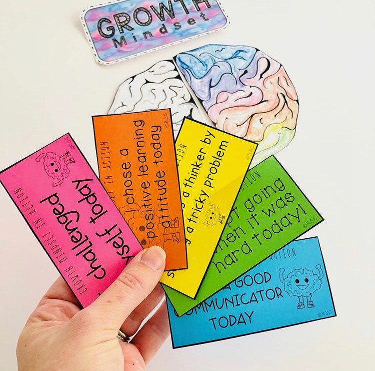 Growth Mindset tags for students