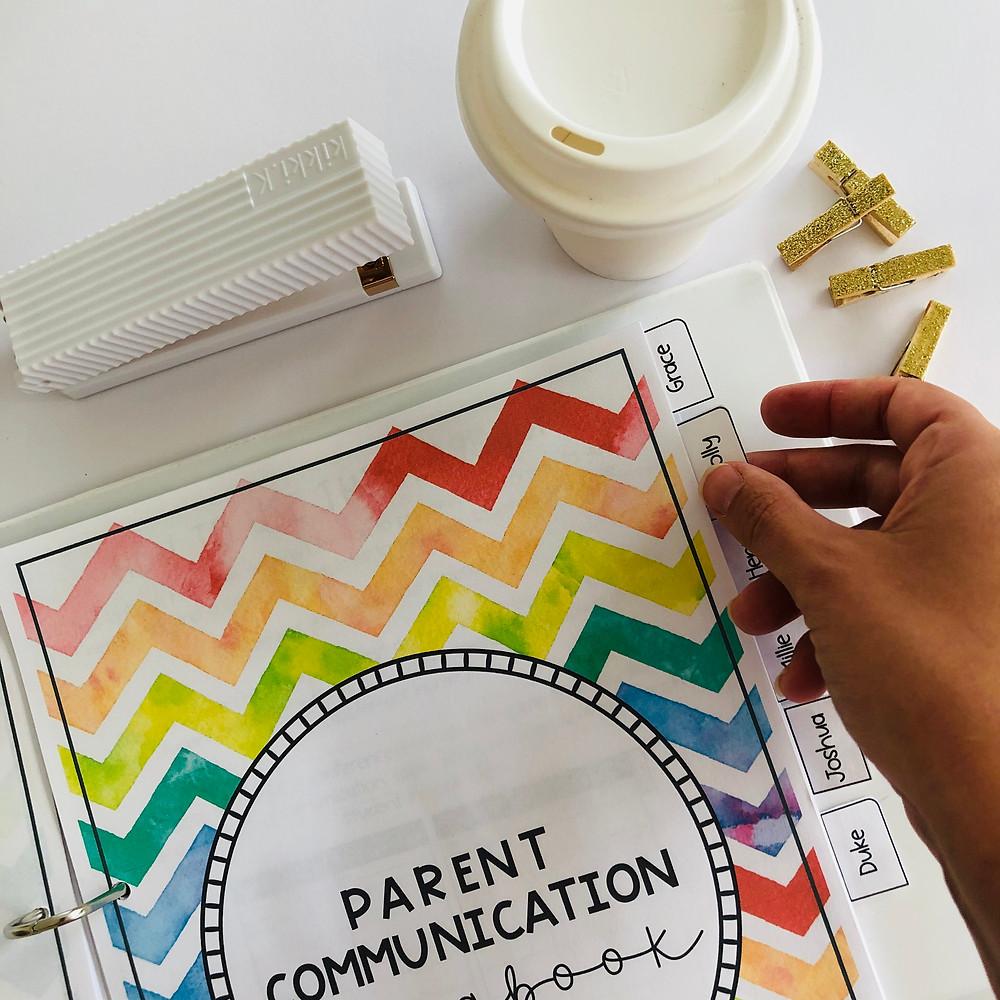 Parent communication logbook RSC
