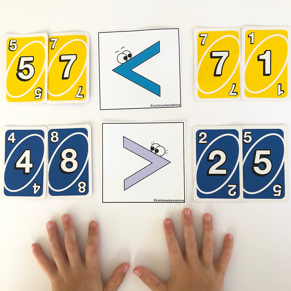 UNO-Cards-Greater-than-and-Less-Than-Number-Sentences