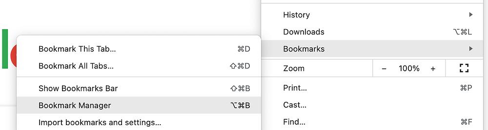 How to create a bookmark folder
