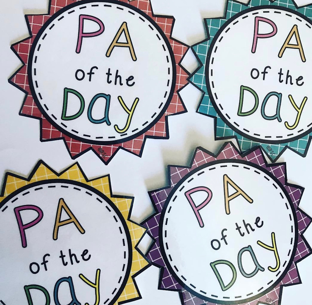 PA of the Day Badges