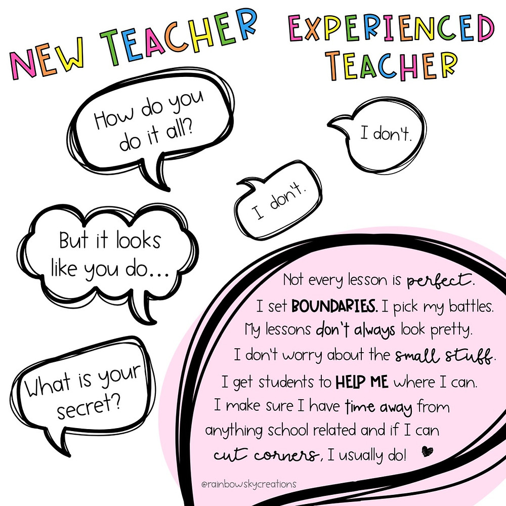 A conversation with a new and experienced teacher infographic