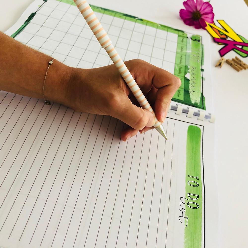 Teacher to do list with hand writing