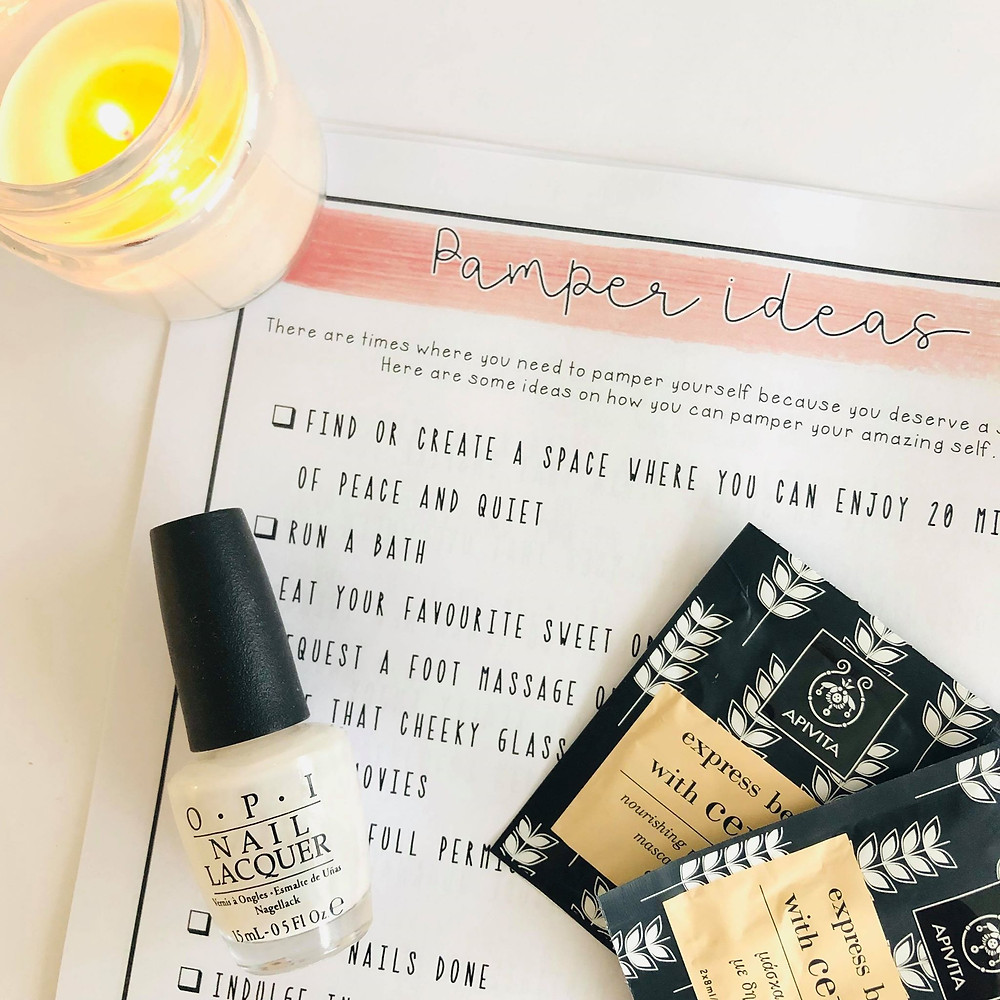 Pamper ideas for teachers in our self-care journal