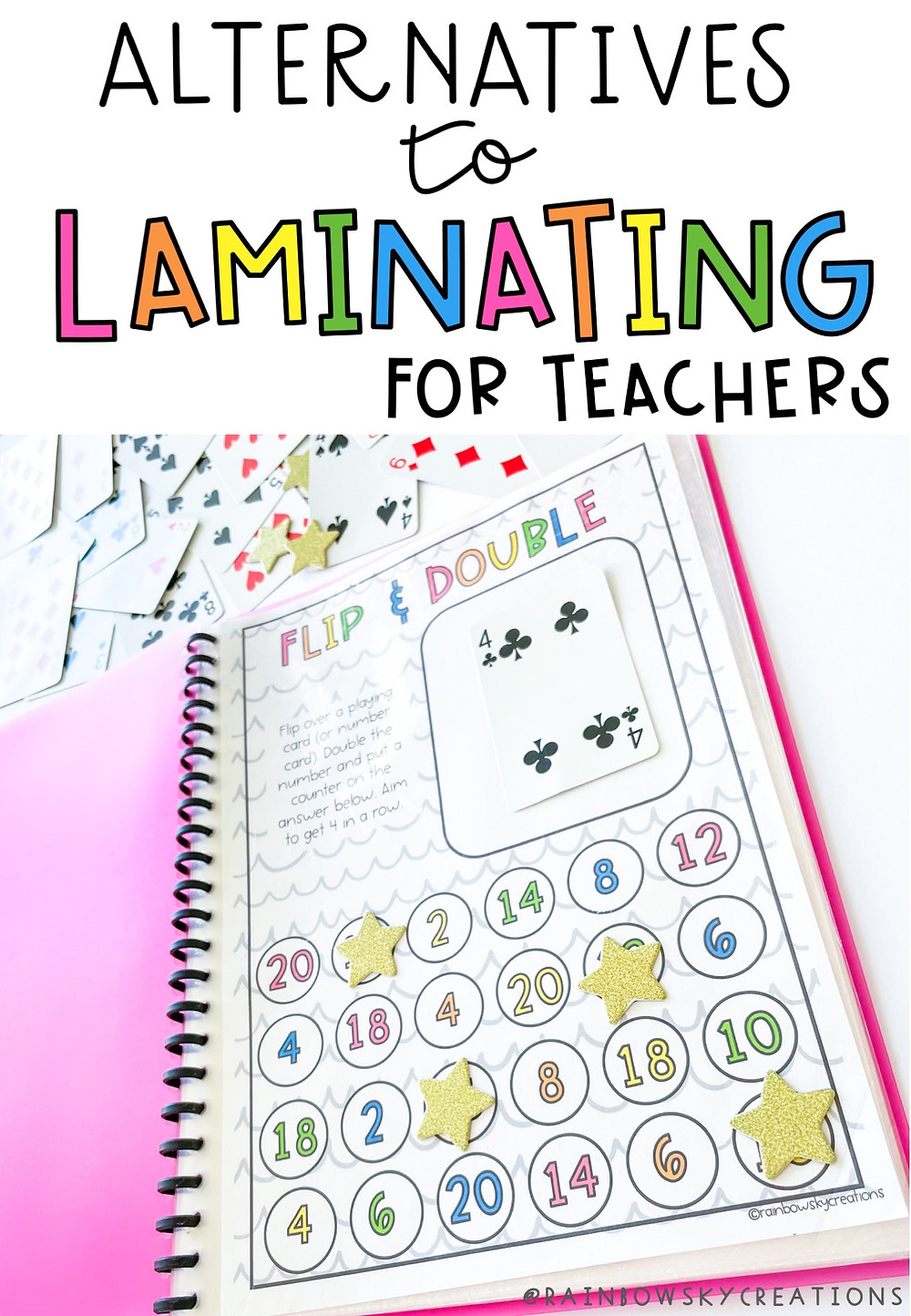 Alternatives to laminating for teachers pin