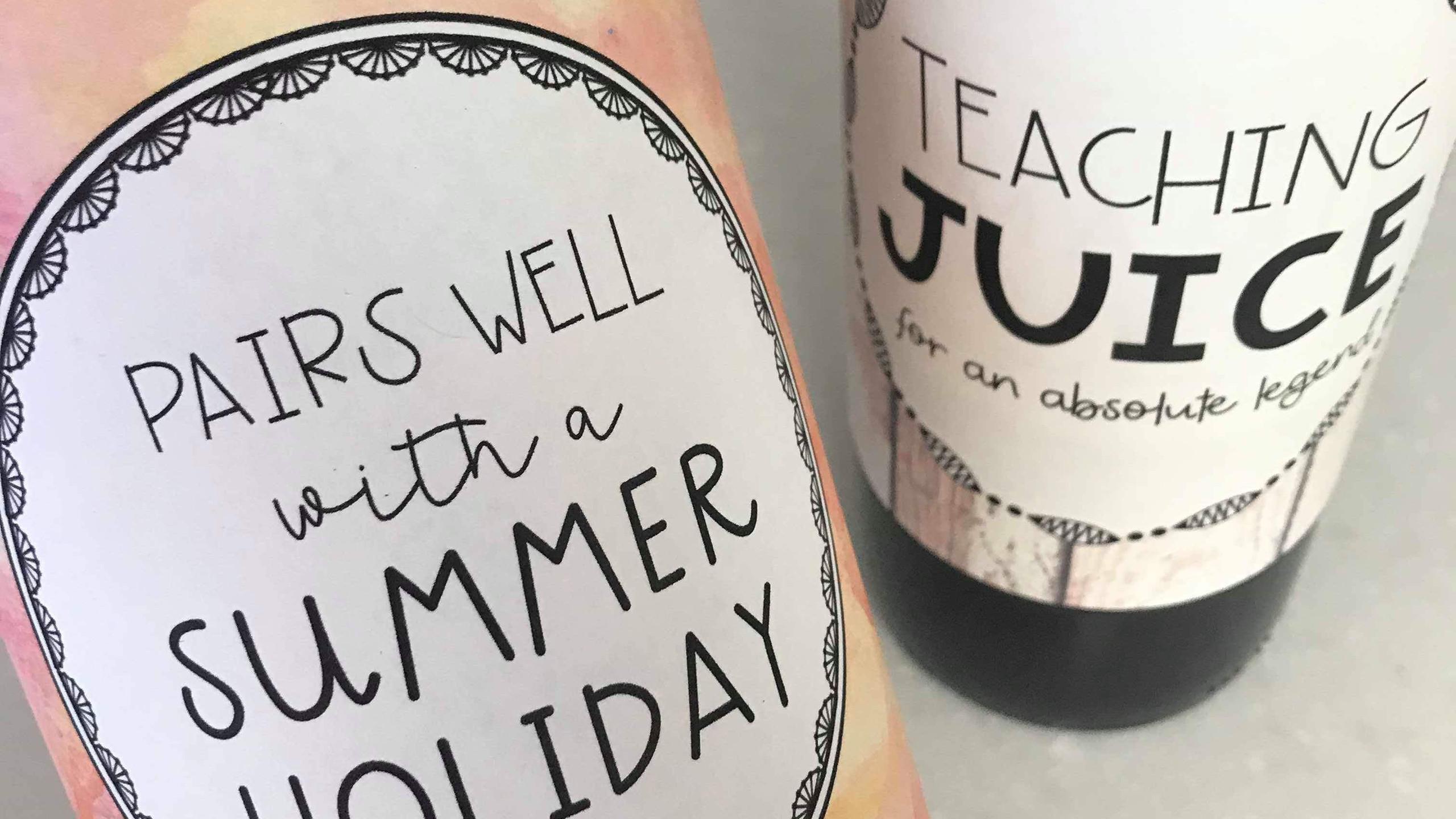 Teacher wine gift