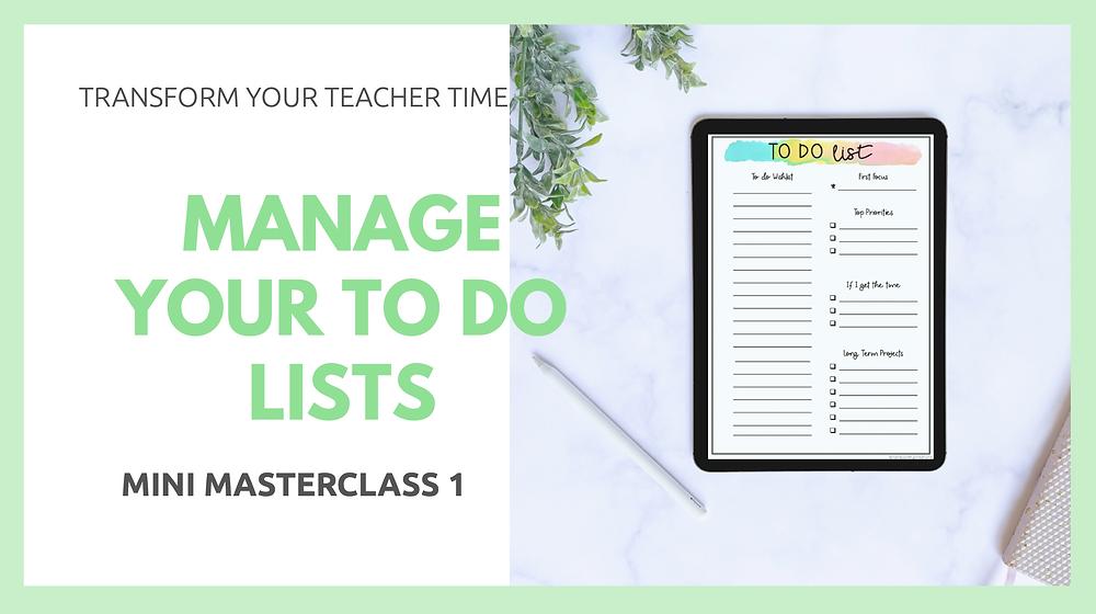 Manage-your-teacher-to-do-list masterclass