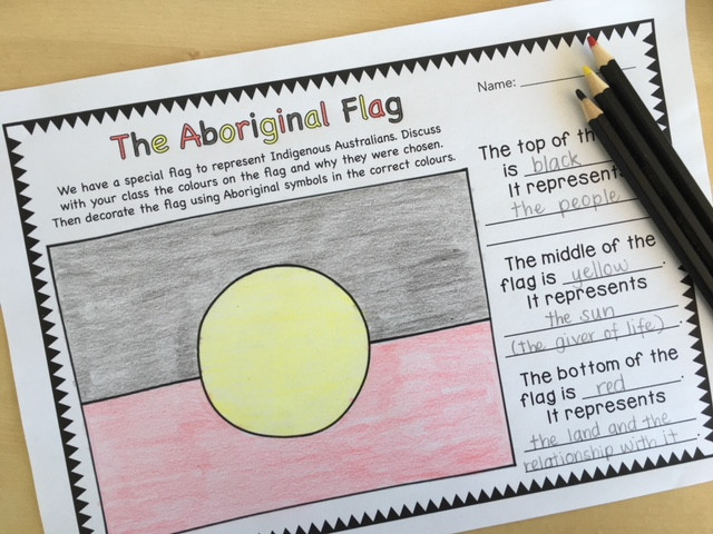 Learning about the Aboriginal Flag