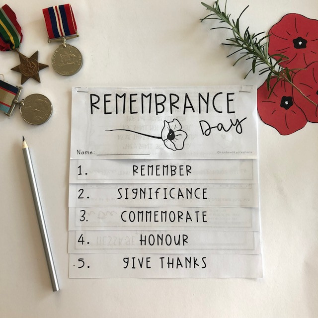 Remembrance Day Research Task