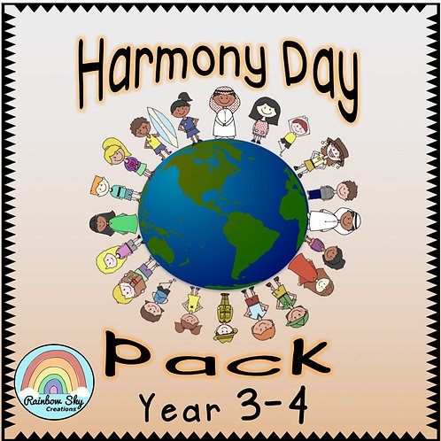 Year 3 - 4  Harmony Day Pack