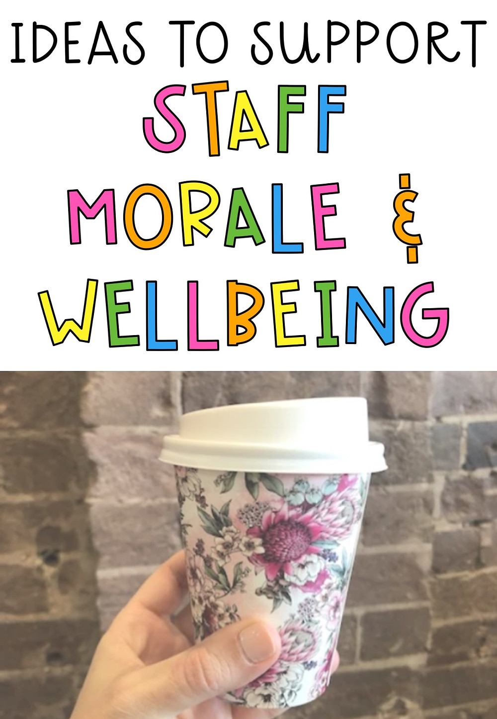 Ideas to support staff morale and wellbeing pin