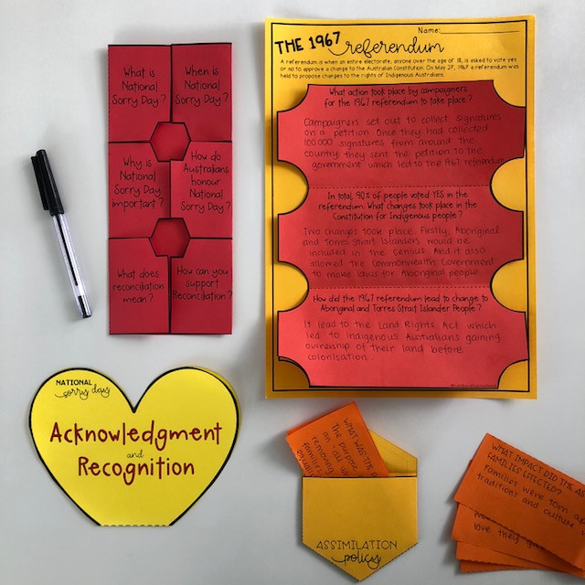 National Sorry Day activities for Grades 5-6