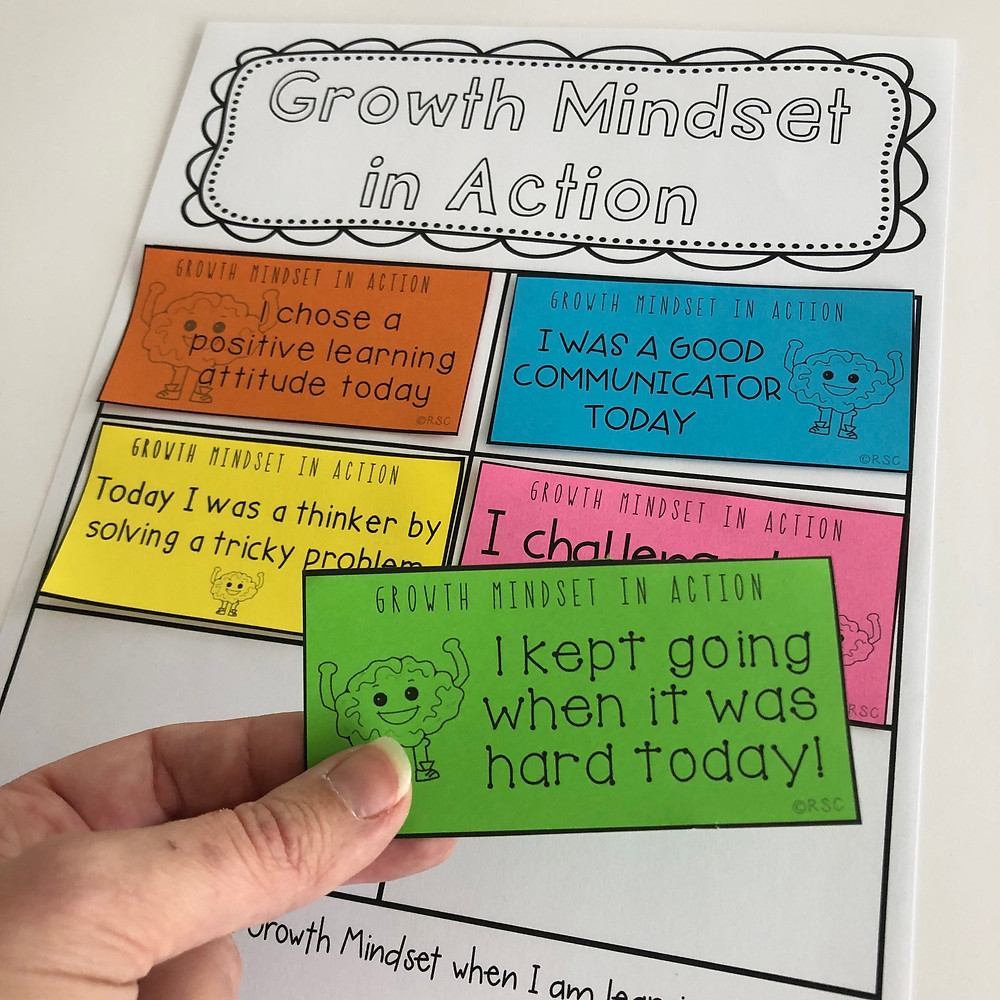 Get your students reflecting on how they are using a Growth Mindset in their learning.