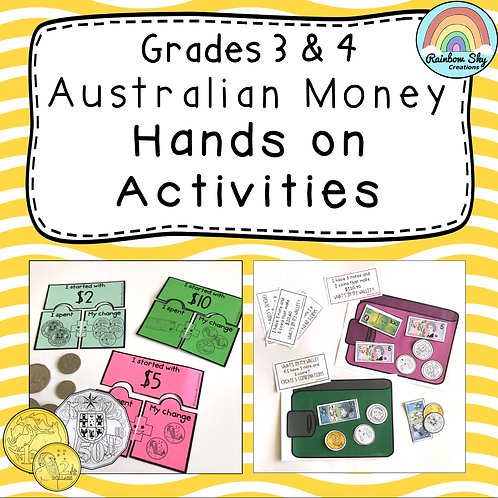 Years 3 - 4 Hands-on Australian Money Pack
