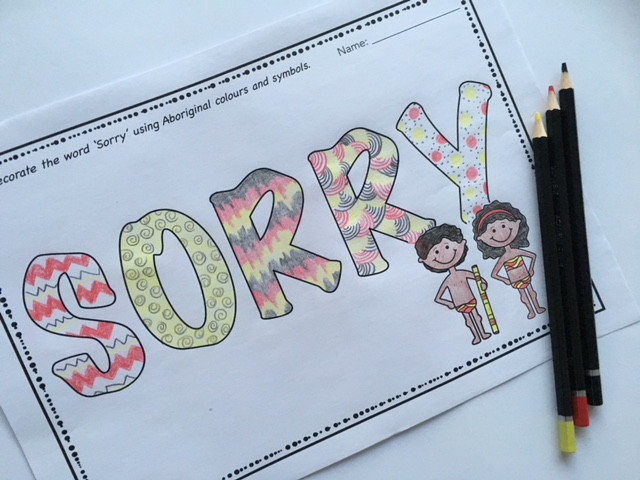 National Sorry Day activity