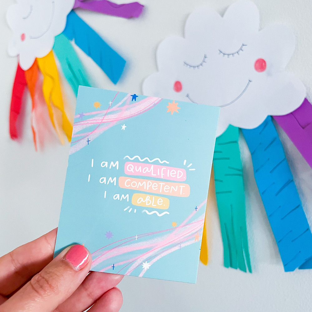 Affirmation card by the Teaching Tools x Laura Jane Illustrations