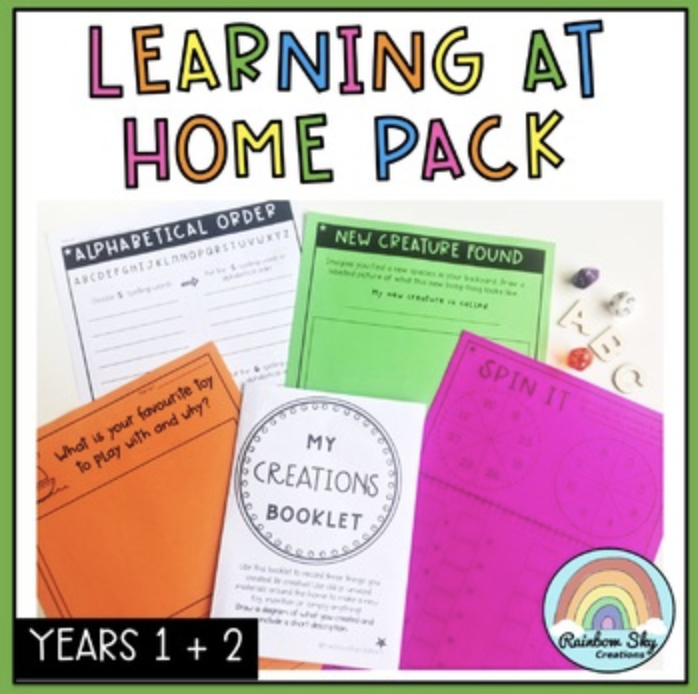 At Home learning resource years 1-2