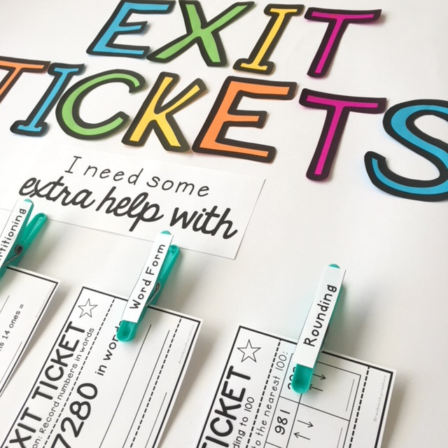 Self Reflection exit tickets