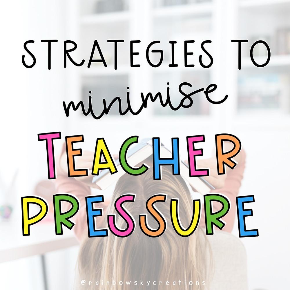 Quick strategies to minimise teacher stress title