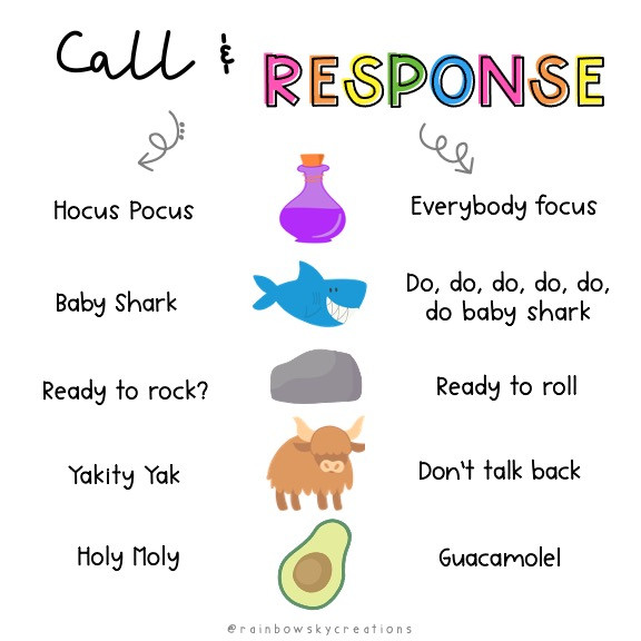 RSC Call and Response infographic