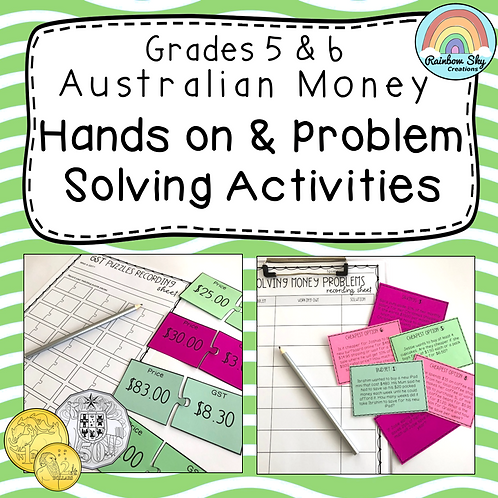 Years 5 - 6 Hands-on Australian Money Pack