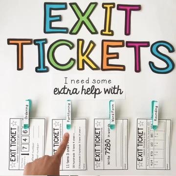 maths-exit-tickets