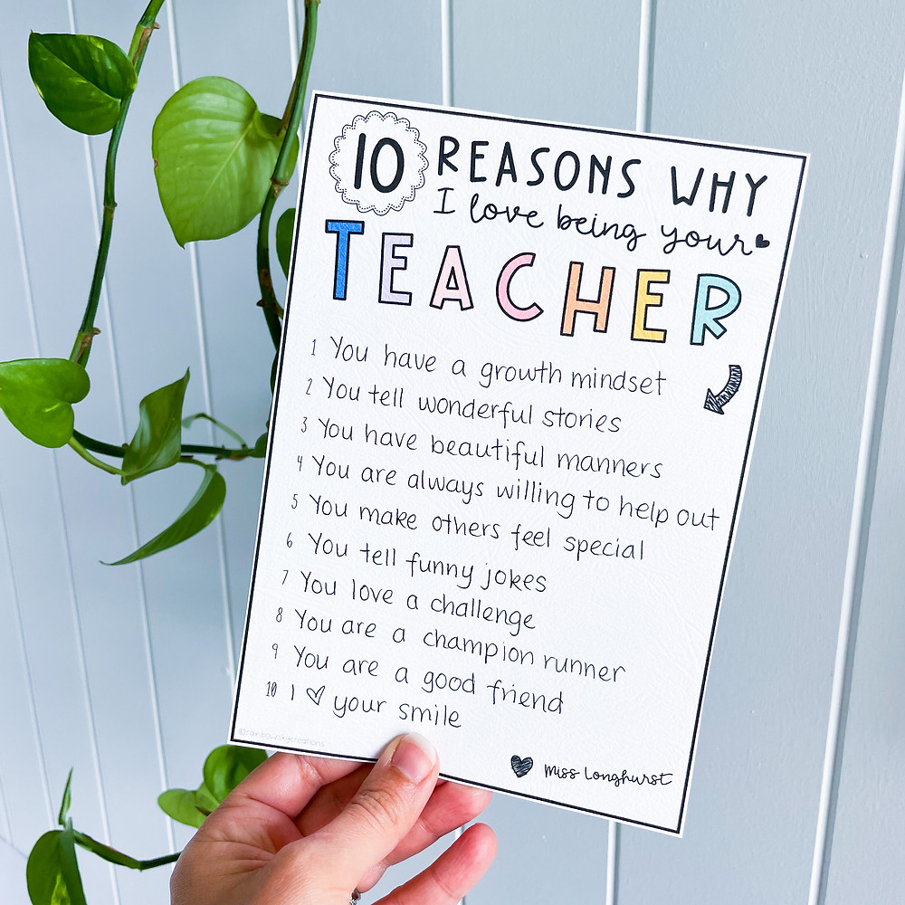 10 reasons why I love being your teacher RSC