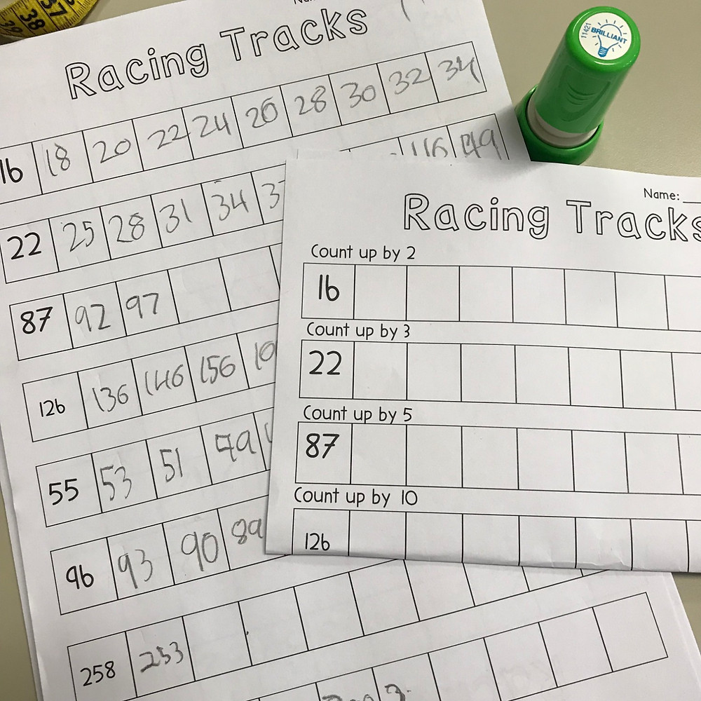 Number Racing Tracks