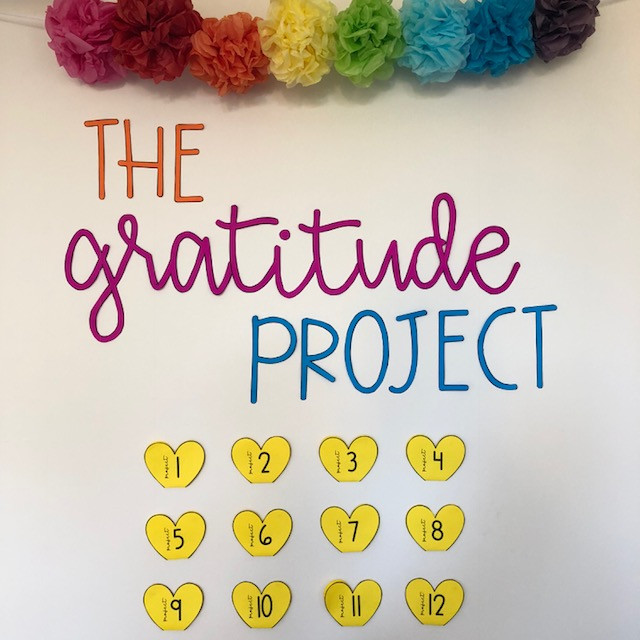 The gratitude project bulletin board display