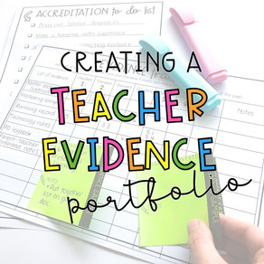 What should I include in my Proficient Teacher Evidence Portfolio?