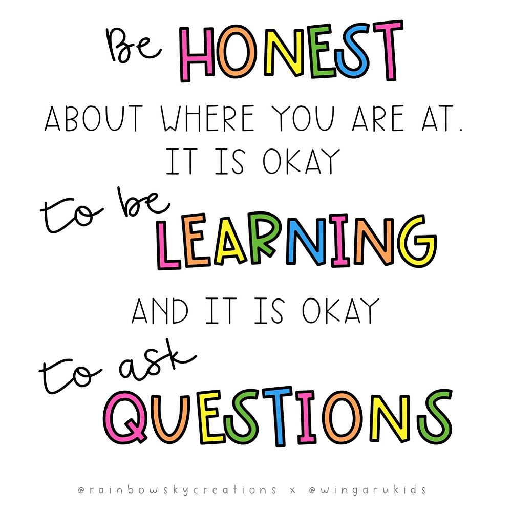 Infographic: Be honest, learn and ask questions