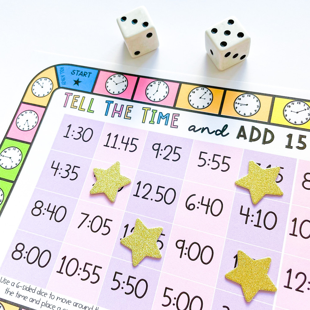 Elapsed time game board