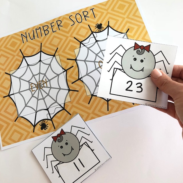 Spider Number Sort game