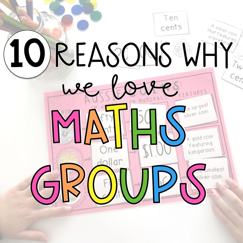 10 reasons why we love math centers title