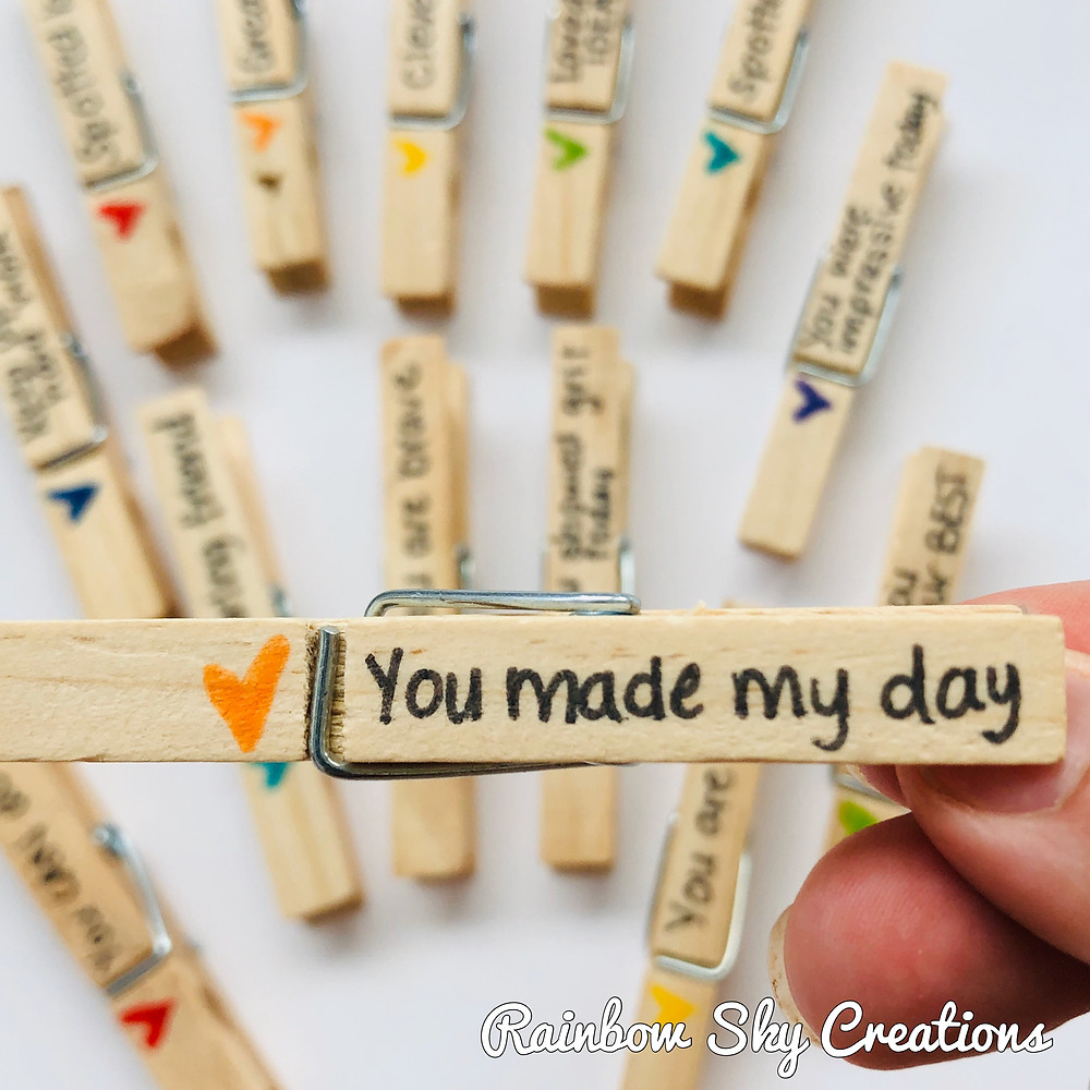 'You made my day' message peg