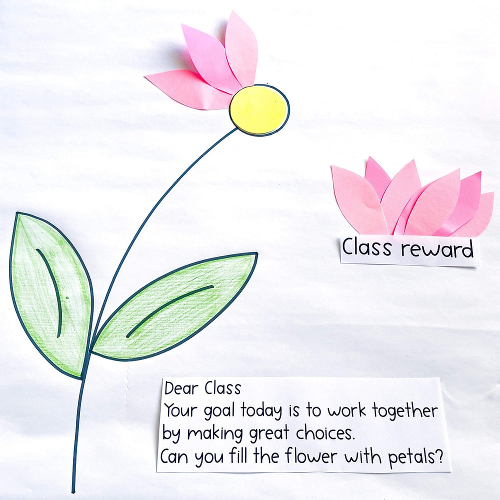 Class reward flower - Rainbow Sky Creations