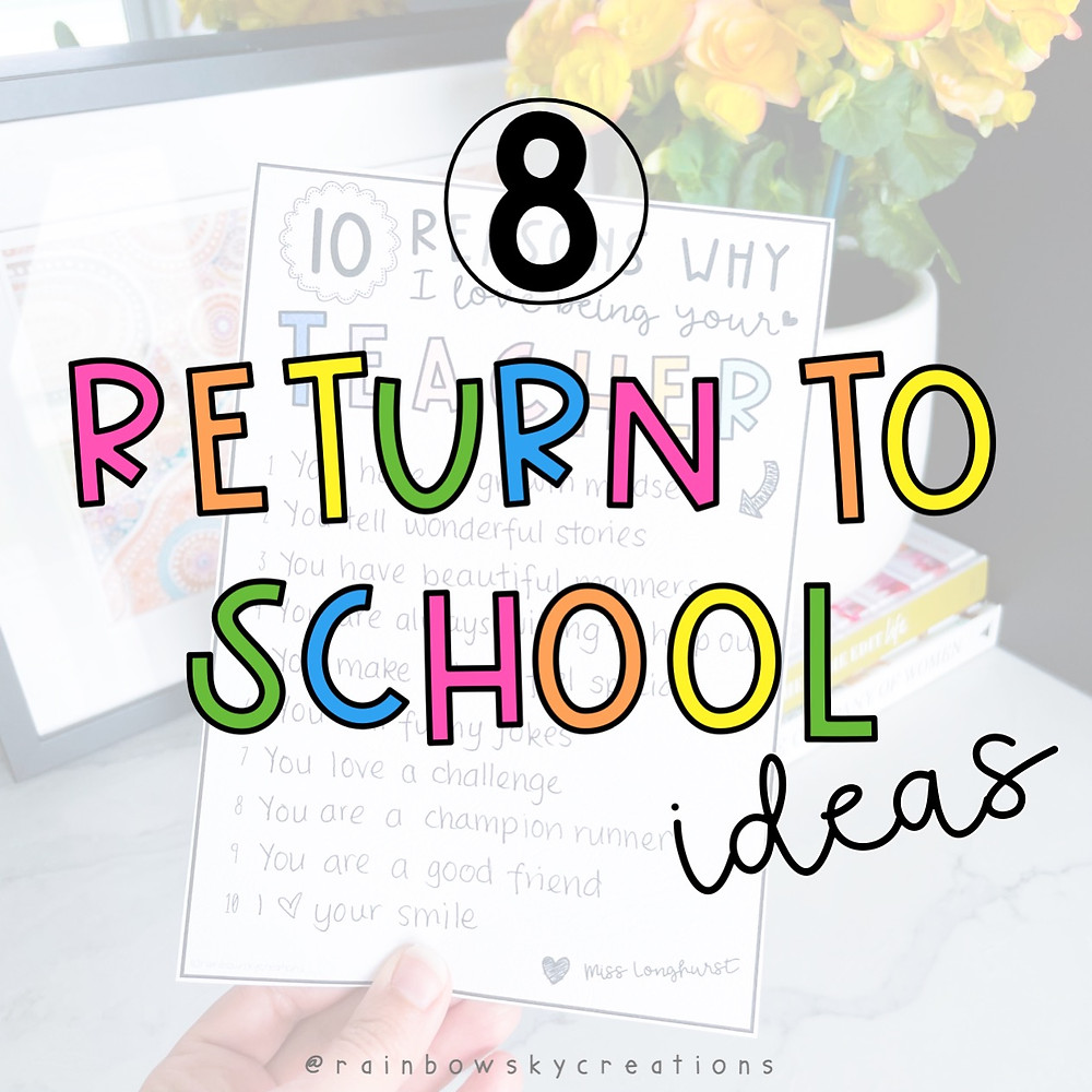 Return to school ideas - Transitioning back from Distance learning