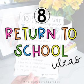 Fun Return to School Transition Ideas