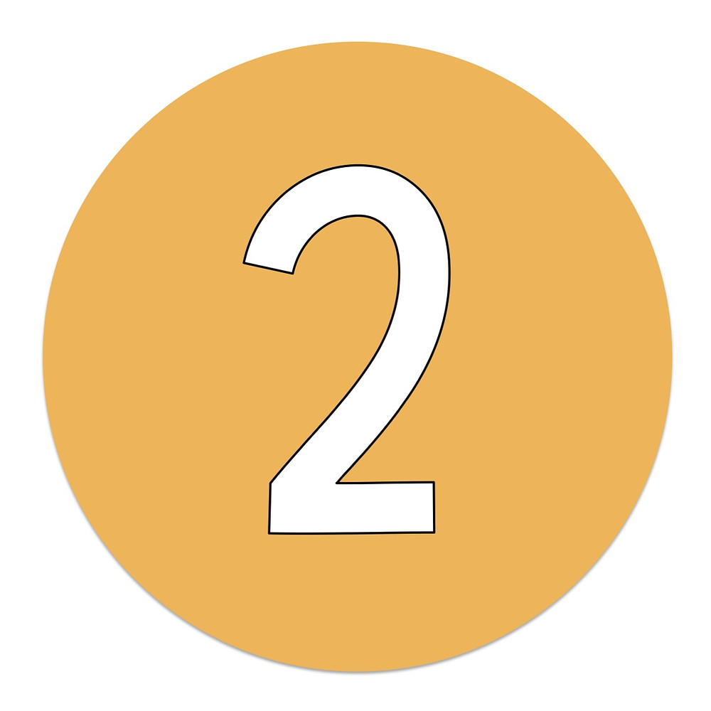 Yellow circle with number 2