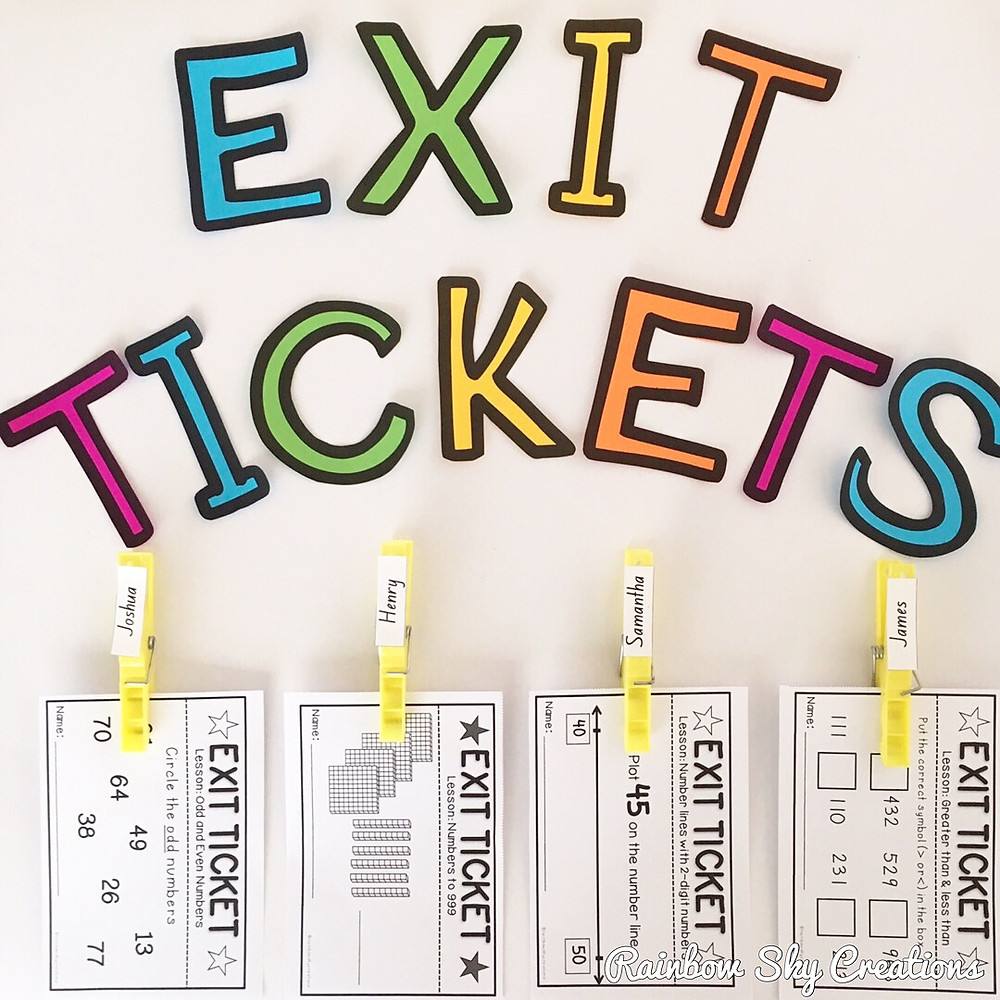 Exit Ticket Display