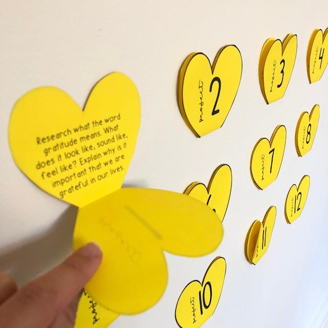 Gratitude project hearts