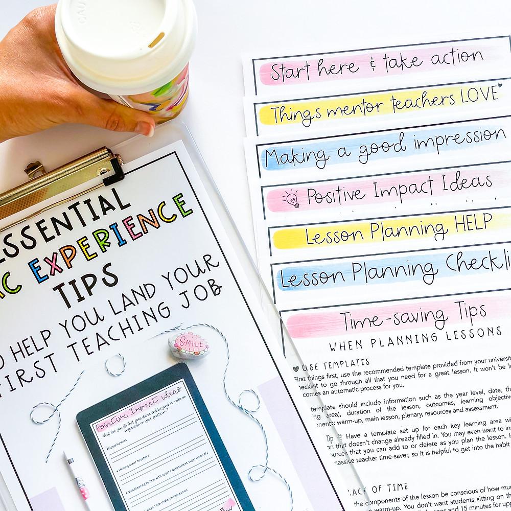 Essential strategies for a successful prac document