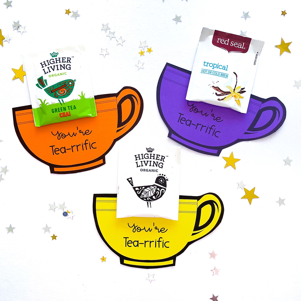 Because you're Tea-rrific labels