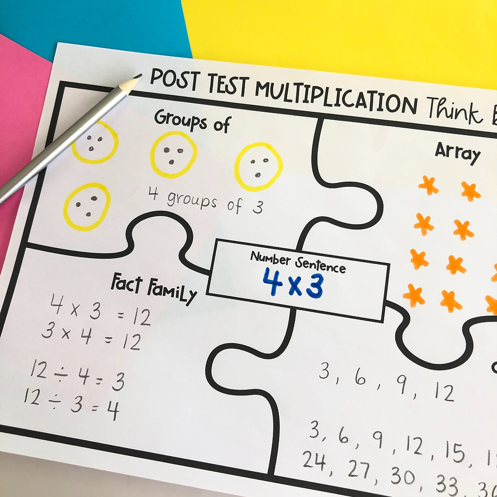Multiplication think board