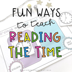 7 Fun Activities to teach reading the Time