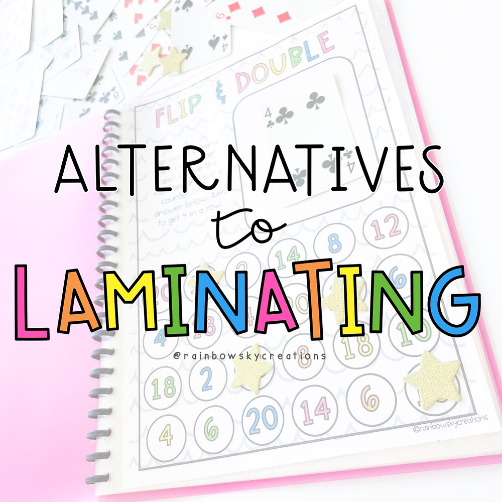Alternatives to laminating for teachers colourful letters