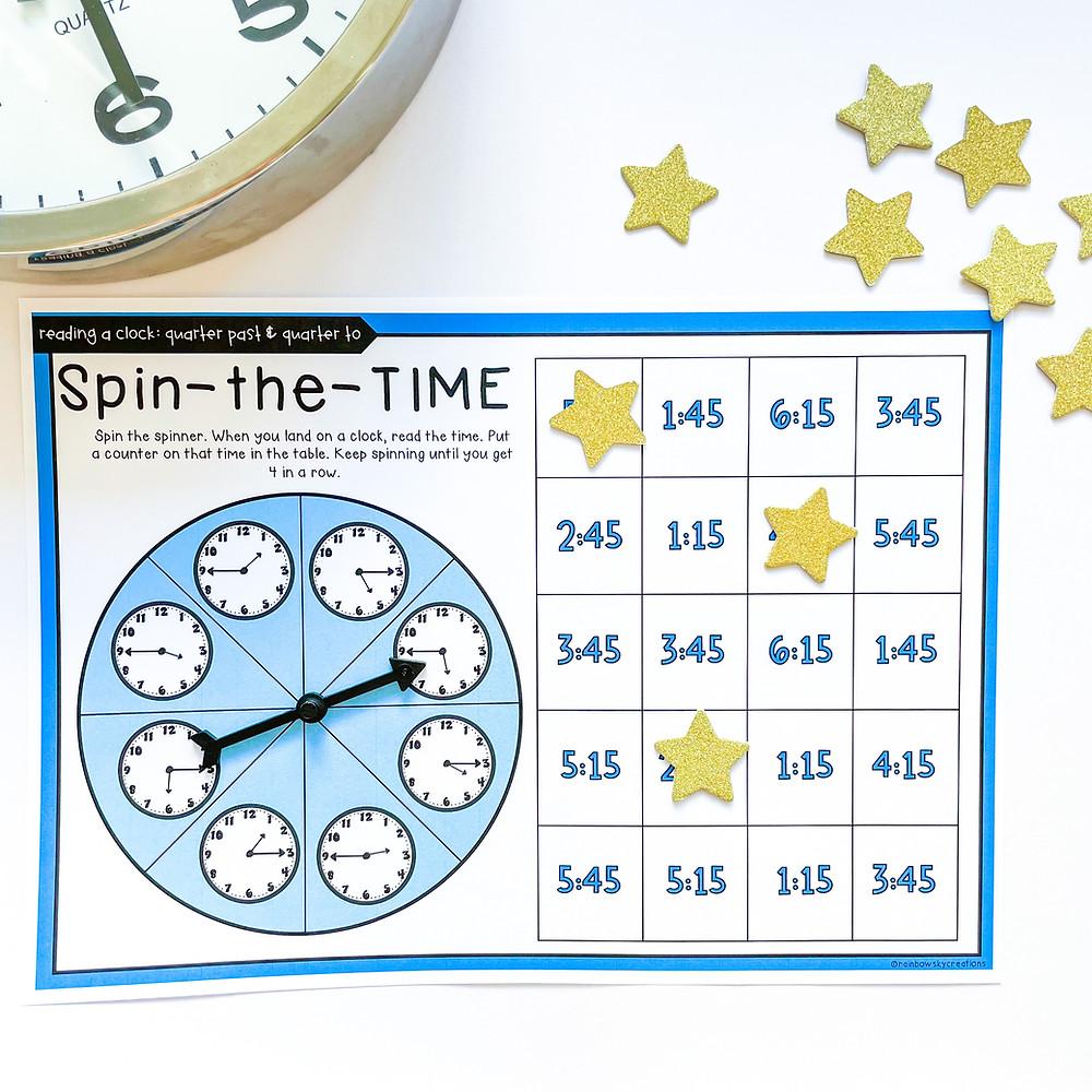 Time spinner game