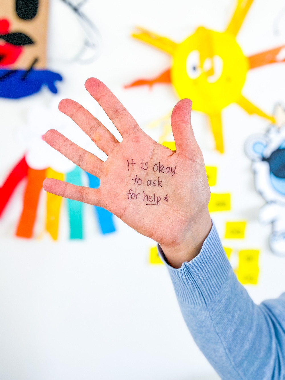 Hand with writing - It is ok to make mistakes